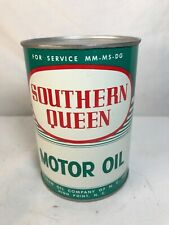 NOS1960's SOUTHERN QUEEN 1 Quart Motor Oil Can - High Point NC