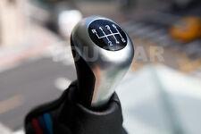 SILVER MATT CHROME / BLACK 6 Speed Manual Gear Knob BMW E46 E90 E81 E88 E39 Z4