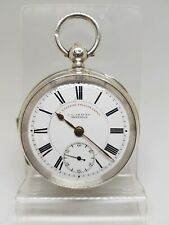 Antique solid silver gents J.G.Graves Sheffield pocket watch 1905 working re1173