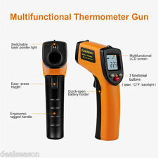 Digital LCD Temperature Gun Non-Contact Laser Infrared IR Thermometer