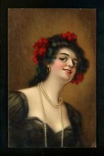 Women postcard Artist Signed Marco Raphael Tuck Series 2763 Vintage