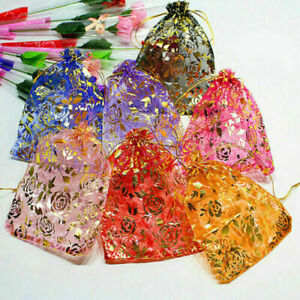 Organza Transparent Jewelry Pouch 4 Wedding ring Gift jewelry Bags Design 195