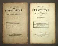 Catalogue de la bibliotheque de feu Arthur Dinaux 2 volumes 1865 bibliographie