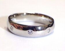 Sleek Men's Platinum and Diamond Eternity Wedding Ring Band 6mm Size 11