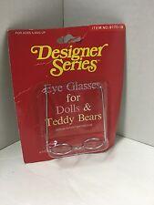 Designer Series Eye Glasses for Dolls & Teddy Bears No. 9175-18 NEW IN PACKAGE