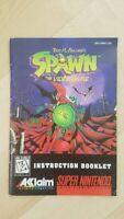 SPAWN Manual Only for SNES NTSC Super Nintendo
