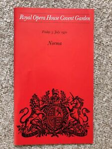 Royal Opera House Programme 1970 Bellini Norma - Joan Sutherland, Marilyn Horne