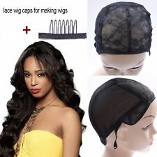 New  Mesh full Wig Caps Stretchable Lace weave one Weaving Cap For Making Wigs