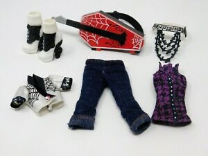 Monster High Operetta First Wave Outfit Top Jacket Pants Shoes Belt Guitar