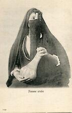 Carte EGYPTE EGYPT Femme arabe Objet cylindrique dépassant du voile