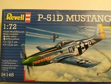 REVELL P-51D MUSTANG AIRCRAFT MODEL KIT 1:72 SCALE - 04148.