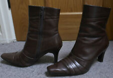 LOTUS brown leather ankle boots size 5 (38)
