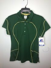 Russell Athletic Womens Dri Power Sport Golf Polo Short Sleeve Shirt Size Small