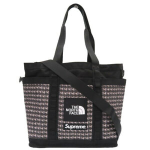 AUTHENTIC NORTH FACE x Supreme NM82125I Steel Studded Explorer Utillity Tote Bag