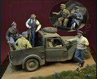 1:35 1/35 WWII Luftwaffe Captured by British Resin Figures Model Kit (6 Figures)