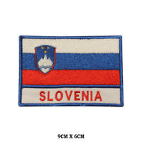 SLOVENIA National Flag Embroidered Patch Iron on Sew On Badge For Clothes etc
