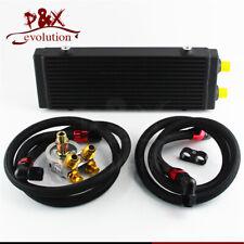 "Medium 14"" Dual Pass Bar&Plate Oil Cooler+80 Deg thermostatic Filter Adapter Kit"