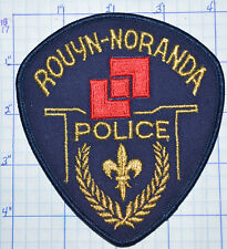 CANADA, ROUYN-NORANDA POLICE DEPT QUEBEC PATCH