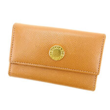 Bvlgari Key holder Key case Brown Gold Woman Authentic Used Y2923