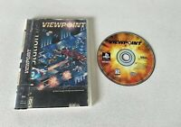 Viewpoint (Sony PlayStation 1, 1995) LONG BOX  No Manual! Tested Working!