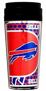 Official NFL Teams 16oz Acrylic Travel Tumbler Coffe Mugs (BUFFALO BILLS)