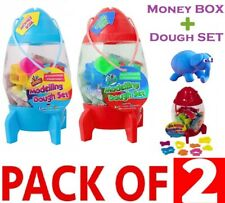2in1 Colours Modelling Clay Set + Money Box Art Craft Plasticine Play Doh Party