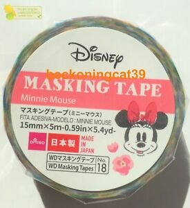 DAISO Lovely Kawaii Disney Minnie Mouse Masking Tape Flower Gift MADE IN JAPAN