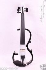Violin Electric Violin Silent  Nice Sound Solid wood White Blue 5 String 4/4  #8