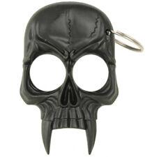 USA STOCK BLACK SKULL Shape Keychain Key Chain Keyring Emergency Metal Tool