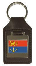 Leather Keyring  Engraved Venlo Netherlands Flag