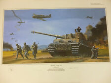 Tiger Tracks by Robert Bailey German Tiger 1 Tank 3 extra prints 2 signers