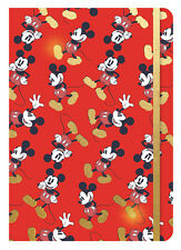 A5 Mickey Mouse Hard Back Lined Notebook With Bookmark Charm Disney Book MKNBK