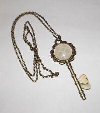 Cúpula de vidrio cabujón con colgante Collar Vintage día de las Madres Cumpleaños San Valentín