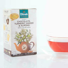Dilmah Rooibos chocolat, Curcuma, Gingembre & AMANDE 20 Sachets de Thé 40 g livr...