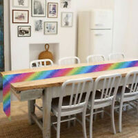 Washable Rainbow Tablecloth Sequin Table Runner Festival Wedding Party Ornament