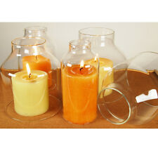 Clear Glass Hurricane Candle Globle Holder Lamp Chimney Dome Shaped 1 Sets of 4P