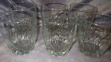 Anchor Hocking Central Park Old Fashioned Whiskey Glasses Clear Glass 6 14oz