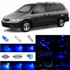 9pcs Ultra Blue LED Interior Lights Package Fit For 1999-2004 Honda Odyssey
