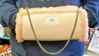 NEW Authentic UGG Australia Suede Leather Shearling Sherpa Sheepskin Hand Muff!!