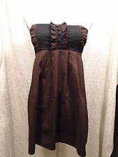 C & C Classic Credo Size Medium Brown Strapless Top/Dress Elastic Back <A>