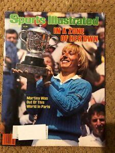 SI Sports Illustrated June 18, 1984 Martina Navratilova French Open Winner VG
