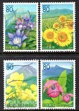 Japan 2006 80y Flowers of Yamanashi set of 4 Fine Used