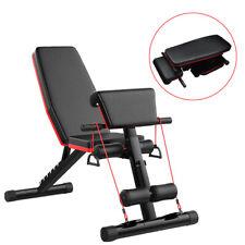 Banc de Musculation Réglable Pliable Inclinable Abdos Entraînement Fitness