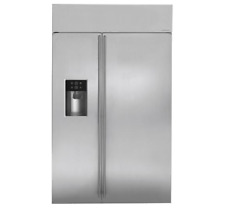 "Ge Monogram 48"" Built-in Side-by-Side Refrigerator Ziss480Dkss"
