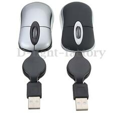 Mini Retractable USB Optical Scroll Wheel Wired Mouse Mice For Laptop Notebook
