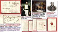 Autographe 1820 DEMONTS Bernard (1782-1846) Maréchal de Camp Révolution & Empire