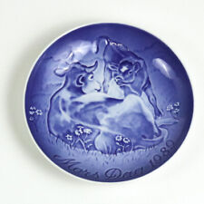 Bing & Grondahl 1989 Mother's Day Collectors Plate, Mors Dag, Cow with Calf