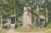WARWICK NY – Camp Sherwood Week-End Cabin – Hand Colored Postcard