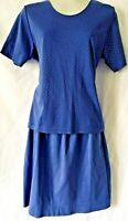 Weekenders Women 2 Piece Skirt Suit Size XS/M Knit Blue Made In Canada