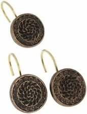 Carnation Home Fashions Ceramic Resin Shower Curtain Hook, Bronze (Bronze)